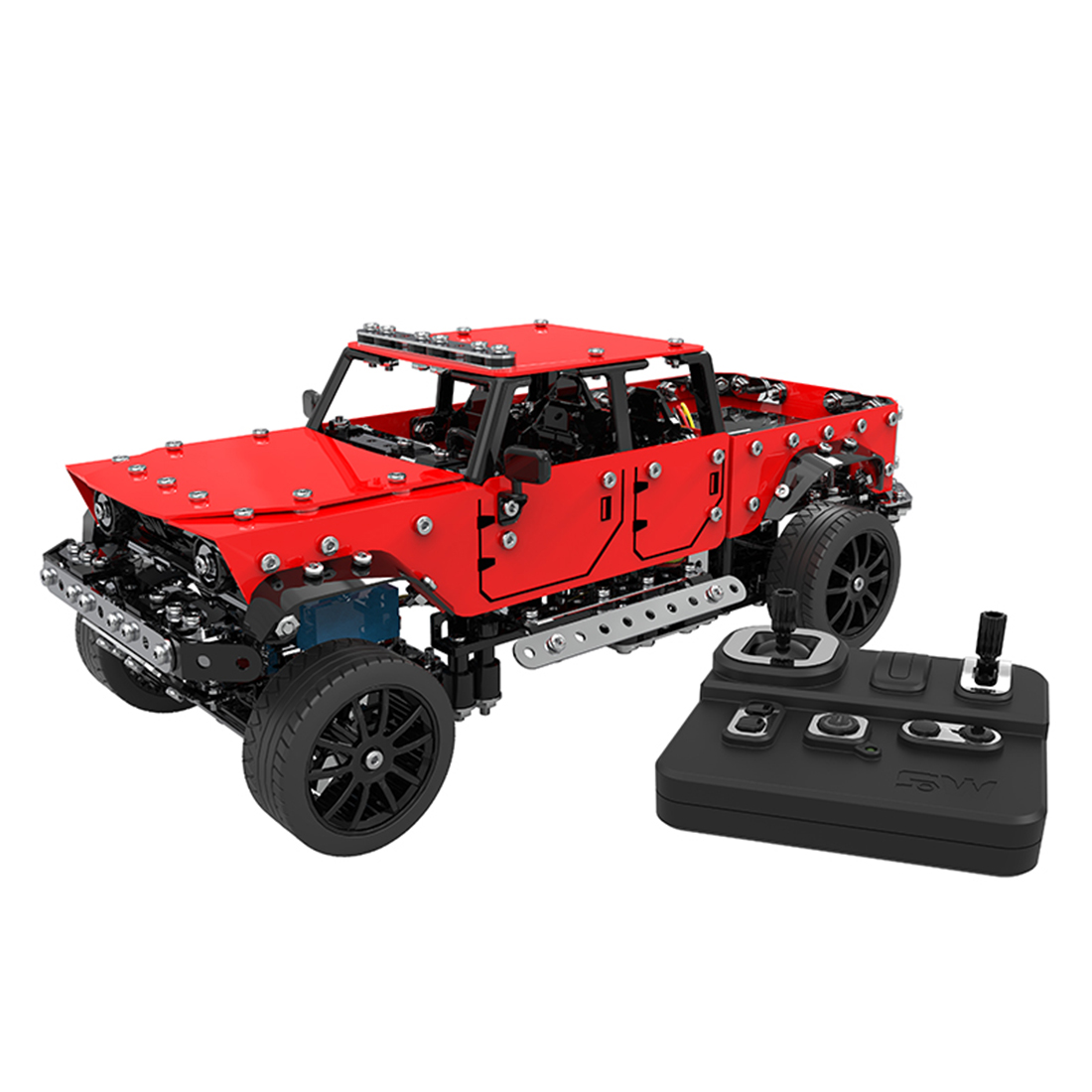 Surwish  1:16 Stainless Steel RC Off-Road Vehicle Building Block DIY Small Particle Construction Model Toy Christmas Gifts