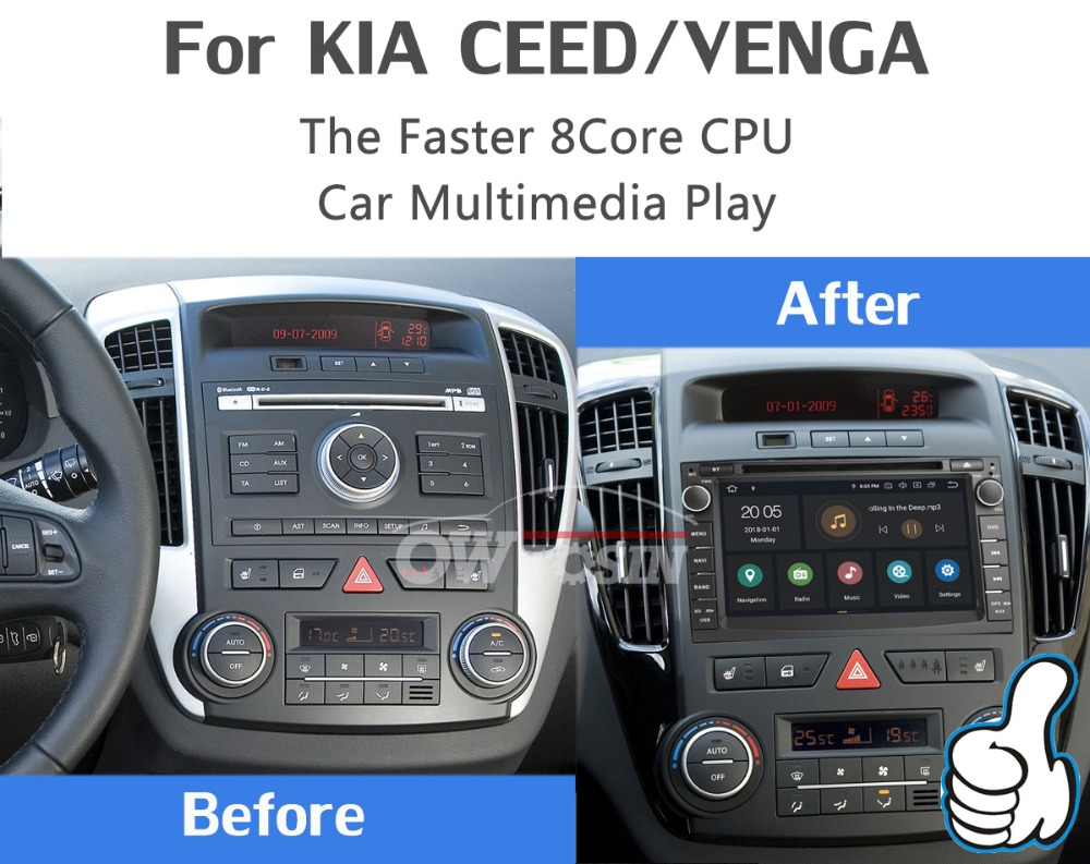 "Discount 7"" PX6 4G+64G 2 Din Android 9.0 Car DVD Multimedia Player For KIA Ceed 2009 2010 2011 2012 Venga Radio GPS Navigation DSP CarPla 2"
