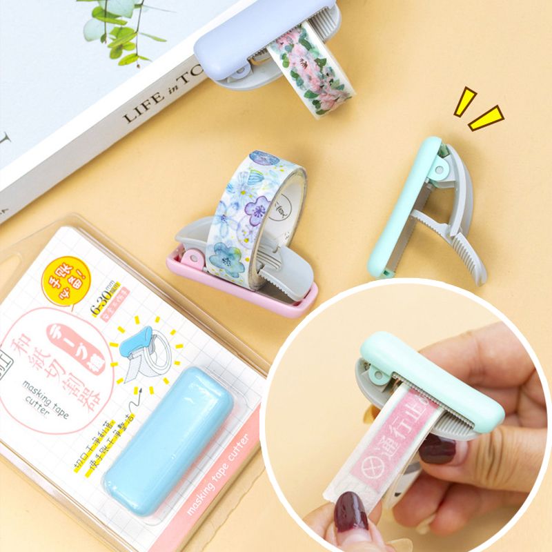 Tape Cutter Mini Portable Masking Tape Cutter Clip Type 6-30 Mm