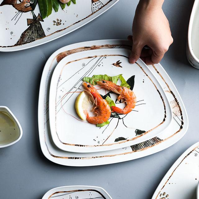 Cute Cartoon Cat Ceramic Tableware  5