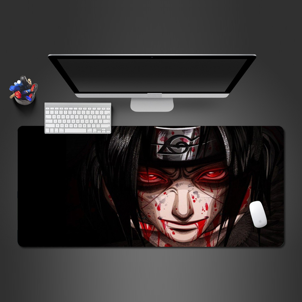 Hot Naruto Anime Bloody Mouse Pad High Quality Rubber Gamer Computer Keyboard Mouse Mat PC Gaming Anime Mause Pad Super Gifts
