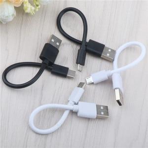 15 см короткий микро USB кабель Тип c мобильный телефон кабели Быстрая зарядка синхронизации данных Шнур USB адаптер кабель для iPhone Samsung Huawei