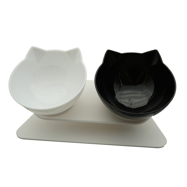 Non-Slip Double Cat Bowl Dog Bowl With Stand  1