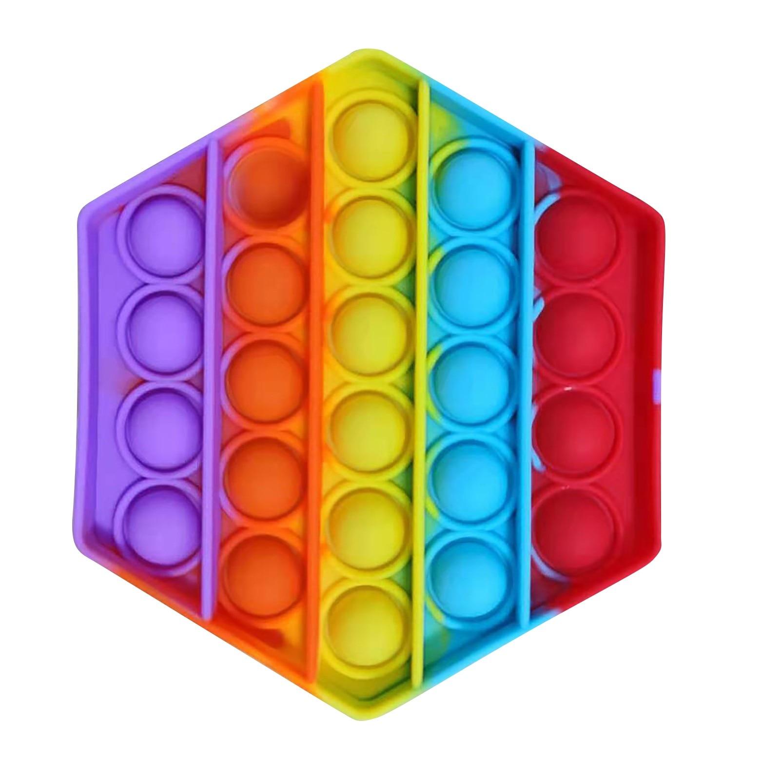 Sensory Toy Stress-Toys Fidget Reliver Rainbow-Push Children Adult It img2