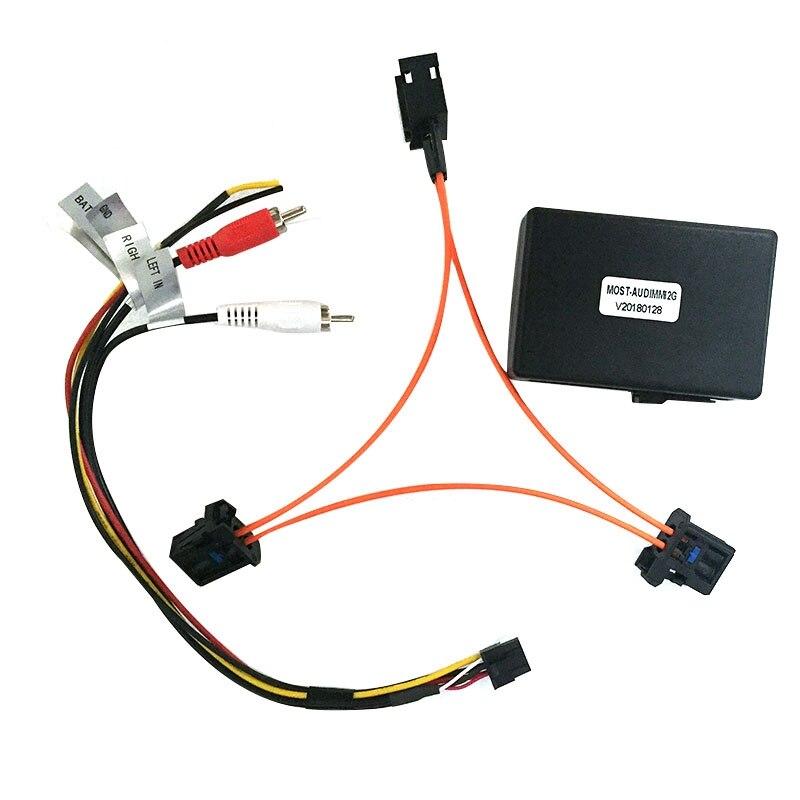 For Audi A6 A7 A8 Q7 05-09 AUX Car Optical Fiber Decoder Box Amplifier Adapter
