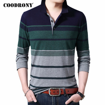 COODRONY Brand T Shirt Men Clothes 2020 New Arrival Stripe Long Sleeve T-Shirt Top Quality 100% Cotton Tee Homme C5035