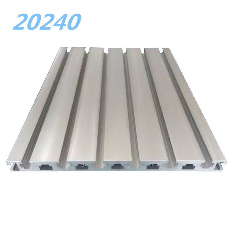 Industrial aluminum alloy profiles European standard <font><b>20240</b></font> aluminum square tube heavy-duty assembly line automatic bracket image
