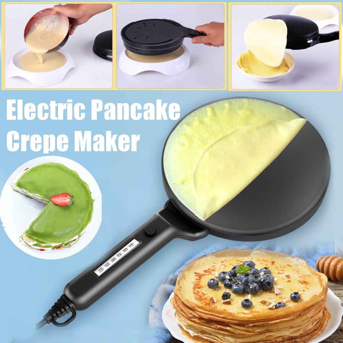 3Pcs/Set Non-stick Electric Crepe Pizza Maker Pancake Machine 220V Griddle Baking Pan Cake Machine Kitchen Cooking Tools Crepe