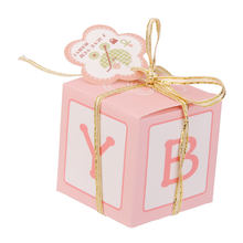 12 Zoete Cake Candy Geschenkdozen Luxe Baby Shower Gunsten Tassen Party Decoratie(China)