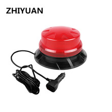 24W School Bus Rotating Traffic Emergency Flash Beacon Magnet Red Warning Strobe Lights Indication LED Safety Car Lamp 9-28V