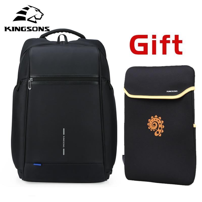 Kingsons Mann Rucksack Fit 15 17 zoll Laptop USB Aufladen Multi schicht Raum Reise Männlichen Tasche Anti dieb mochila-in Rucksäcke aus Gepäck & Taschen bei  Gruppe 1