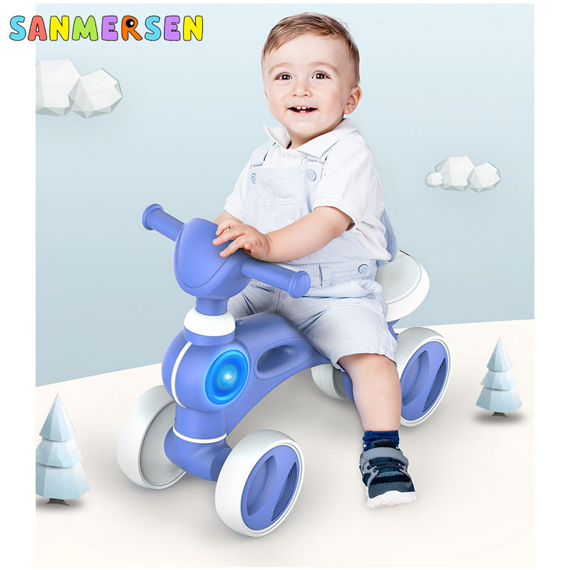 Baby Balance Bike Tricycle Music Bike Ride Toys Children Learn To Walk Get Balance Kids Baby Indoor Outdoor Toys 1-3 Years