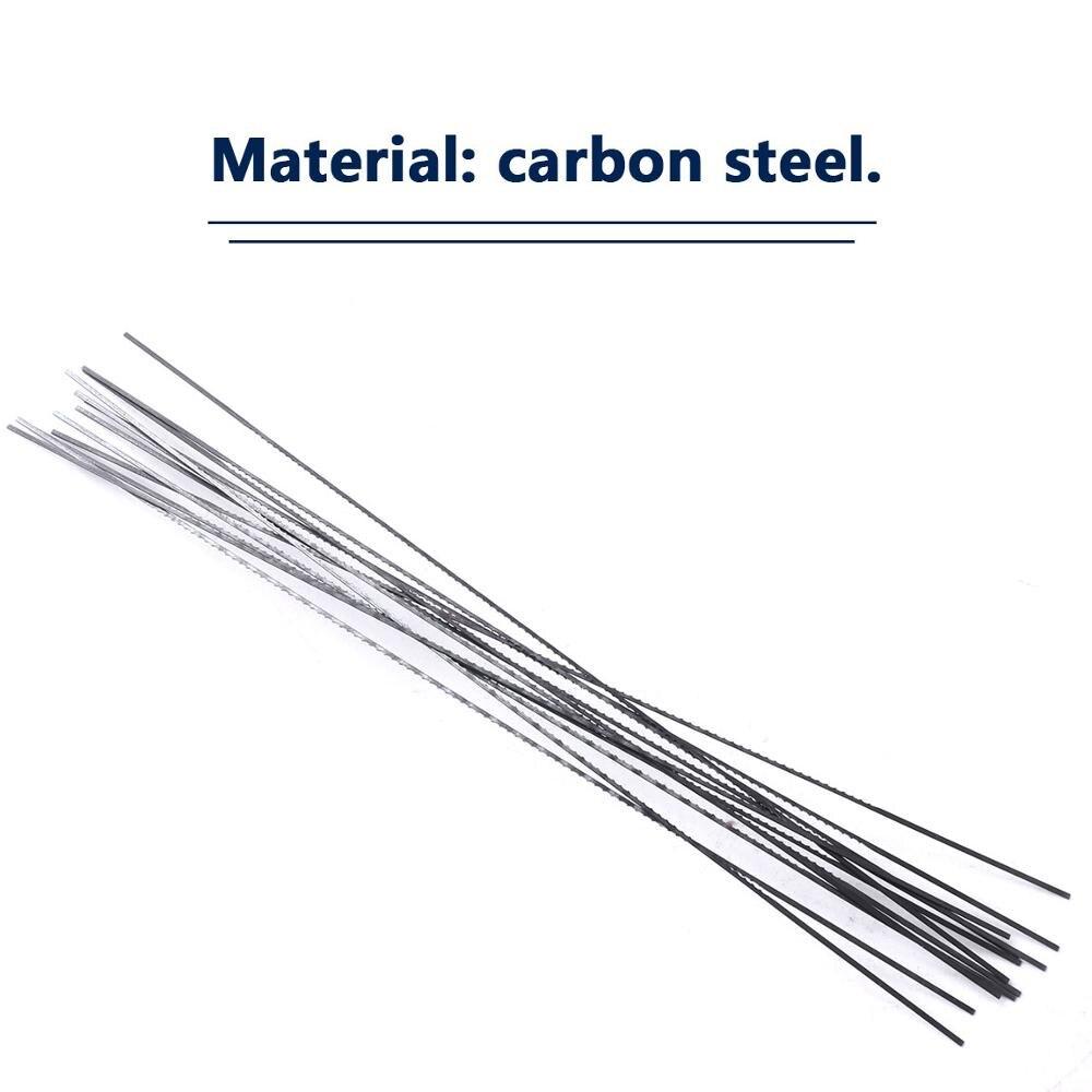 10pcs 130mm Scroll Saw Blades Spiral Teeth Width 1# 2# 10# 12# Wood Saw Blades Steel Wire Metal Cutting Hand Craft Tools