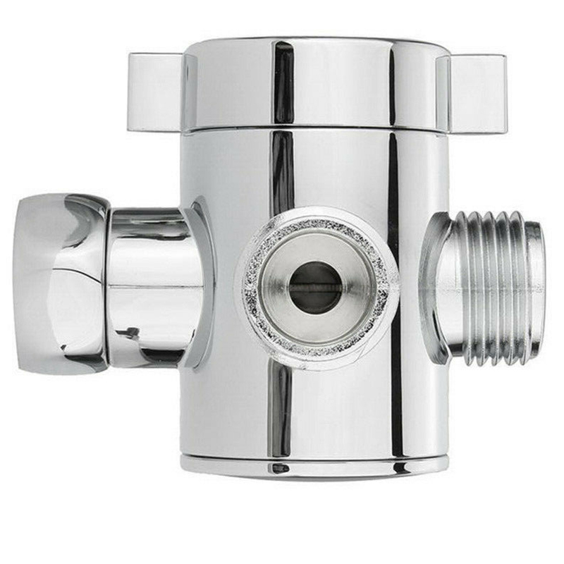 Round Shower 3 Way Diverter Valve Part Water Segregator Handheld Replacement Adjustable Shower Head Arm  Bathroom  Hardware Part