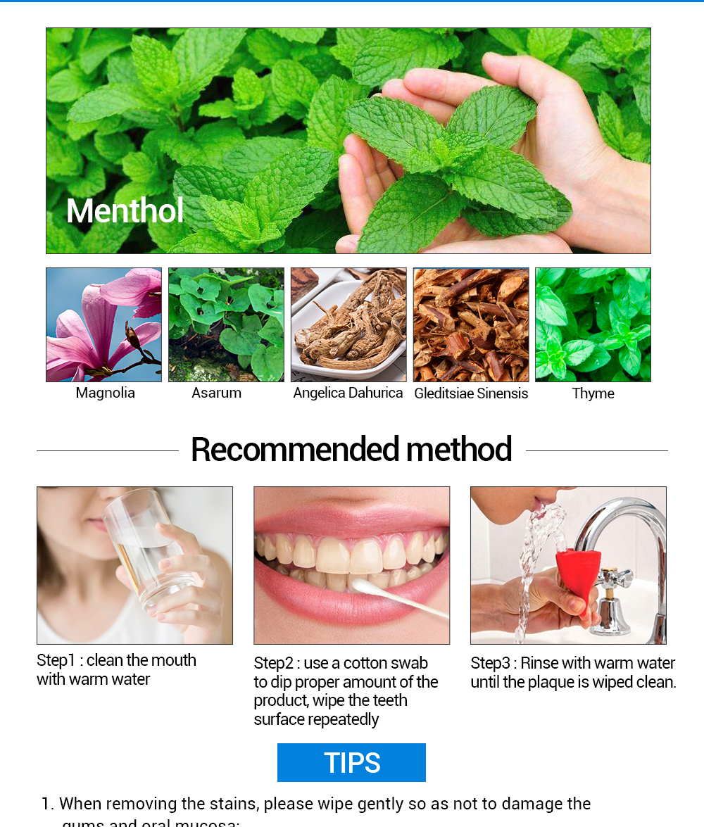 Elleperi.com: LANBENA Teeth Whitening Essence Powder Oral Hygiene Cleaning Serum Remove Plaque, Tea, Coffee Stain,All kinds of teeth stains Peppermint Taste
