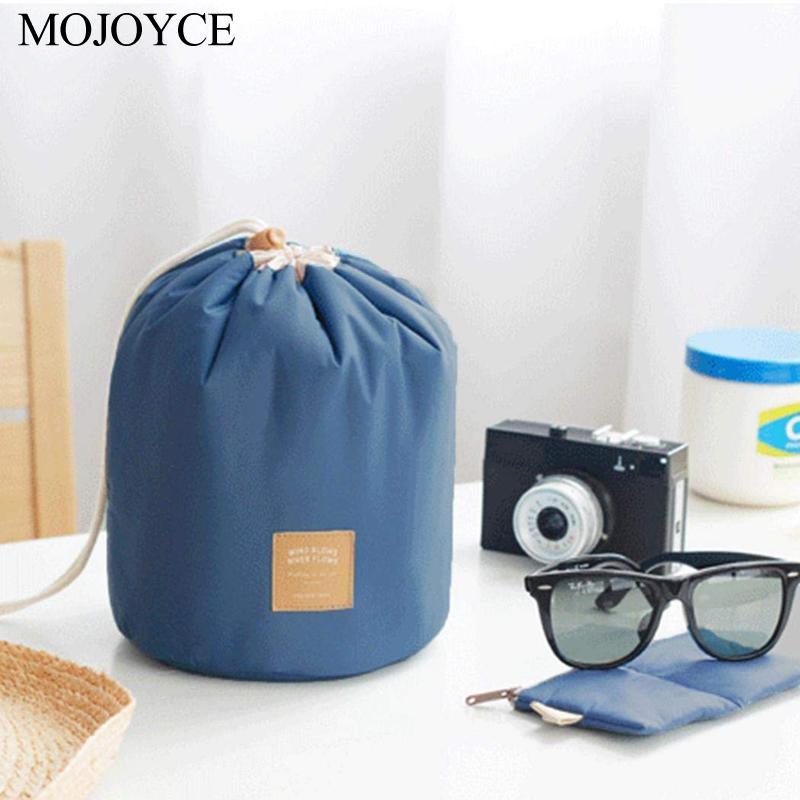Nylon Drawstring Travel Cosmetic Bag Makeup Organizer W/ Clear Brush Bags