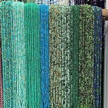 En gros 2mm 3mm pierre naturelle Quartz perles rondes Turquoises vertes pierre de lune Malachite Amazonite perles en vrac pour la fabrication de bijoux