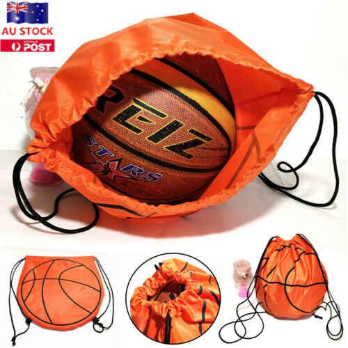 Bolsa con cordón impreso para viaje al aire libre de nailon Mochila deportiva con cuerda de baloncesto