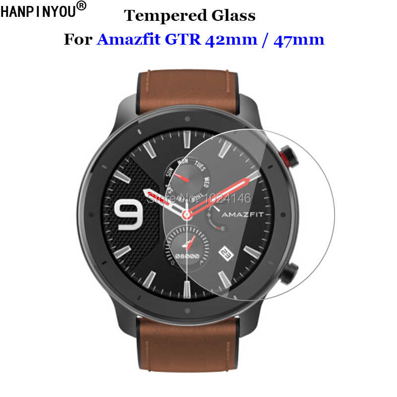 For Xiaomi Huami Amazfit GTR 42mm / 47mm Sports Smart Watch Tempered Glass 9H 2.5D Premium Screen Protector Film