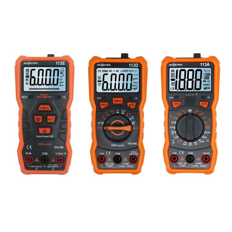 MAX Multimeter Digital VoltMeters RM113D Digital Multimeters Data Show Capacitor Tester 1~10MΩ AC DC Electric Meter Richmeters