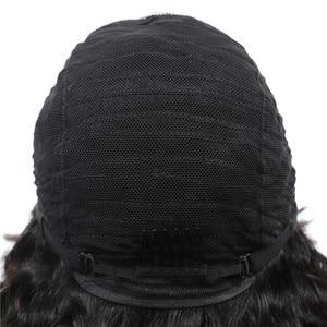 Image 5 - ברזילאי קצר בוב מפץ פאה עמוק גל שיער טבעי פאות עם פוני רמי פיקסי Cut פאה טבעי מלא מכונת עשתה עבור נשים