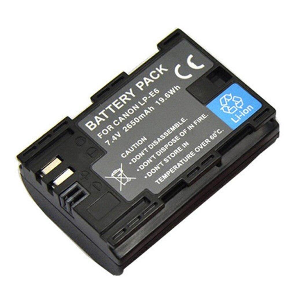 LP-E6 портативный 7,4 V 2650mAh большой емкости литиевый аккумулятор Профессиональный для Canon EOS 6D 80D Digital Came