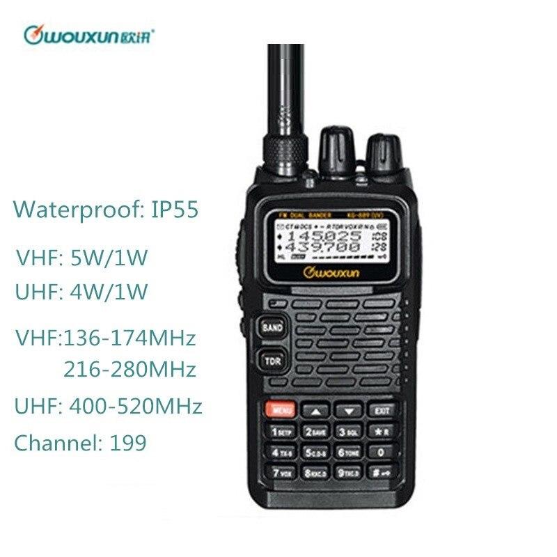 Walkie Talkie Waterproof for Wouxun KG 889 VHF:136 174/216 280MHz UHF:400 520MHz Ham CB Radio Station HF Transceiver Amateur