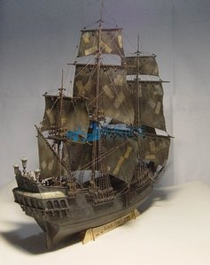 Image 4 - 1 / 96scale Pirates of The Caribbean Black Pearl Simulation Wooden Sail DIY Boat Model Kit Handmade Adult Toy Gift  Home Decor