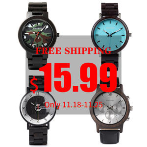 Wristwatche Wooden Clearance-Price BOBO High-Quality Quartz Wholesale Promotion Male