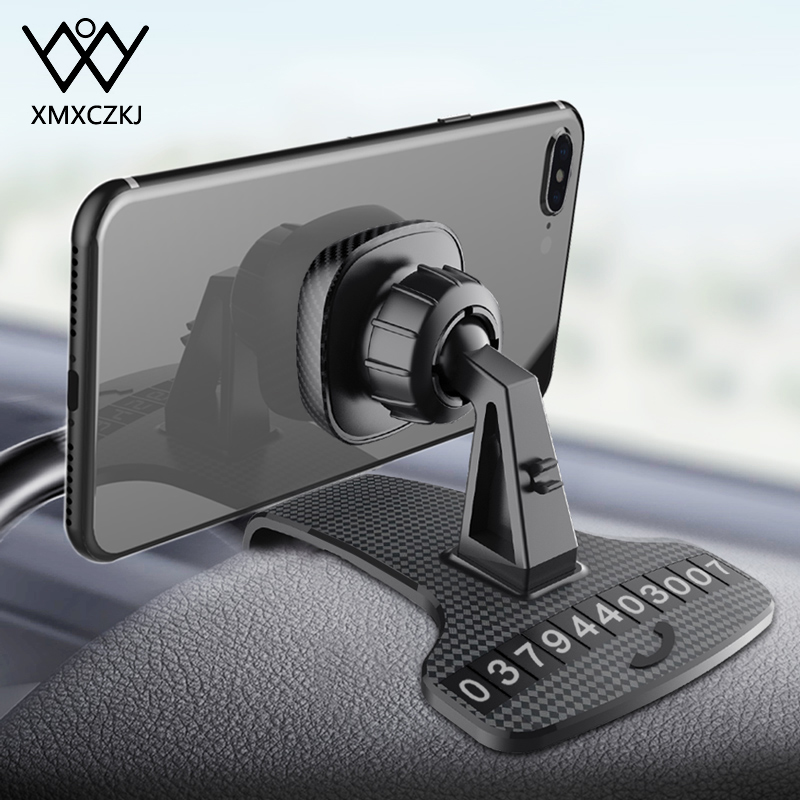 Dashboard Magnetic Phone Holder For IPhone Car Holder 360 Rotatable Cell Phone Magnet Display Bracket One-hand Car Mobile Stand