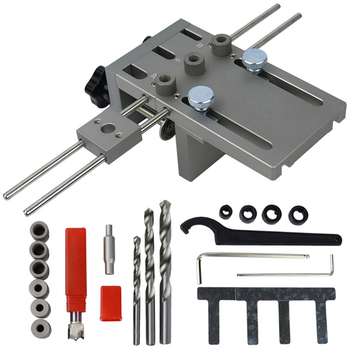 New Professional Woodworking Punch Locator Wood Doweling Jig Adjustable Drilling Guide for DIY Furniture Connecting Position Too