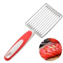 Slicer de tomate aço inoxidável frutas e legumes slicer cortador de carne ferramentas cozinha acessórios