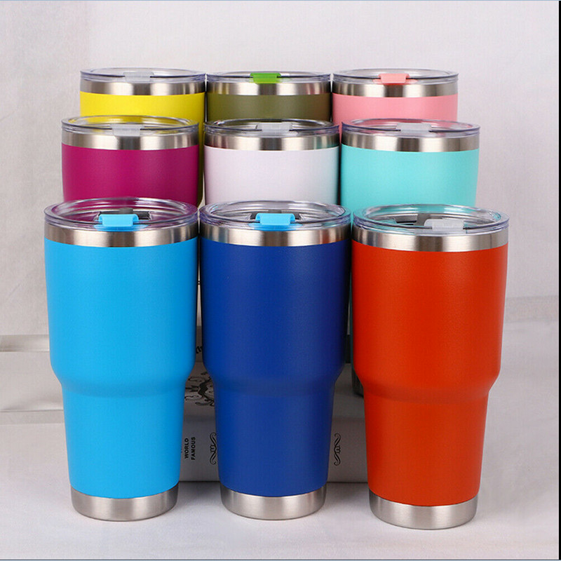 Travel Mug Coffee Tumbler Stainless-Steel Vacuum Double-Wall-Insulation Insulated 30oz title=