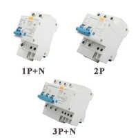 DPNL DZ47LE-63 1P + N 2P 3P + N 4P 20A 230V 50HZ 60HZ disjoncteur à courant résiduel avec Protection contre les surintensités et les fuites RCBO