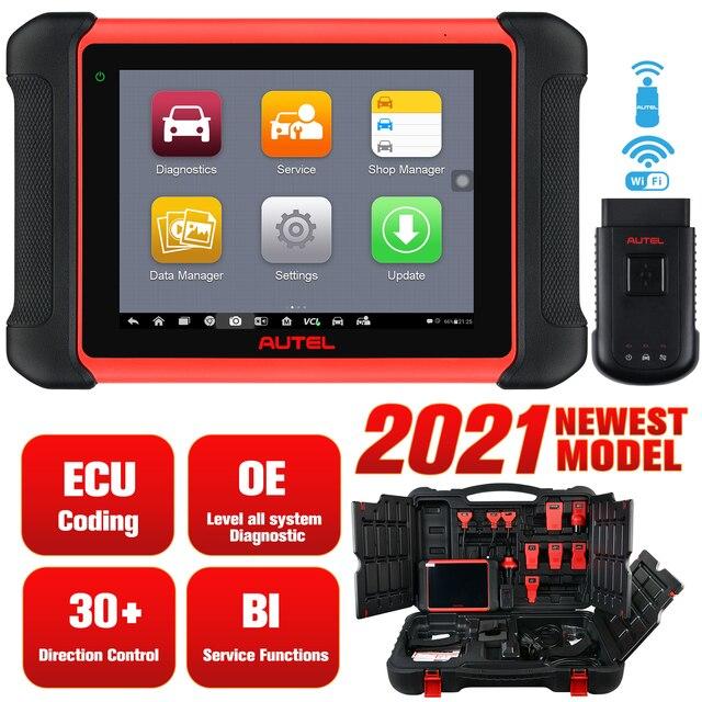 Autel MaxiCOM MK906BT ECU Coding Tablet Scanner Diagnostic Tool OBD2 Car Accessories Wireless Bluetooth Better Than MS906BT