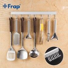 Frap crochets de cuisine, rangement en acier inoxydable, pour cuillère passoire, organiseur mural, crochets de cuisine pour suspension Y19007, 6 à 10 crochets