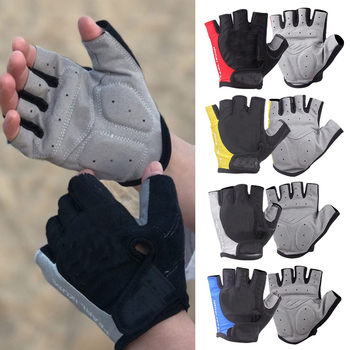 Cycling Gloves Bicycle Gloves Bike Gloves Anti Slip Shock Breathable Half Finger Short  1