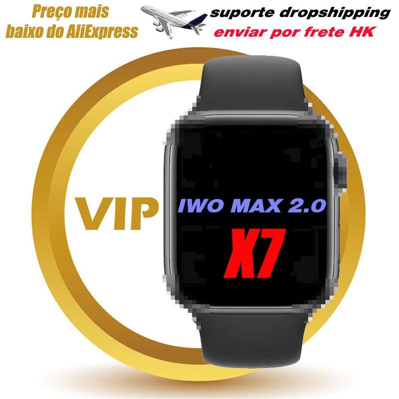 VIP IWO MAX 2 X7 SmartWatch Bluetooth Call Full Touch Screen Sports Fitness Tracker Heart Rate Blood Pressure Smart watch PK W26