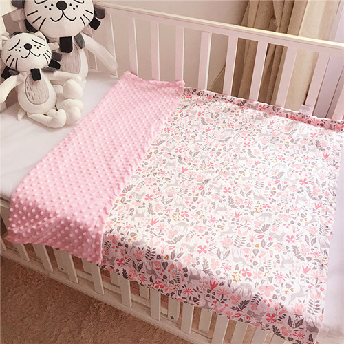 Baby Polar Dot Blanket Soft Flannel Blanket Newborn Toddler Minky Baby Blanket Stripped Swaddle Wrap Bedding Covers Bubbles
