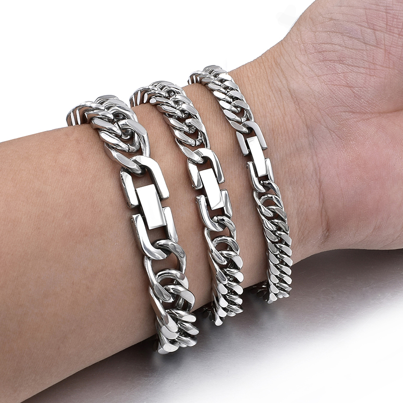 Stainless Steel Jewelry Hand Chain Men Charm Couple Bracelets For Women Accesories Bangle Punk 2019 Friendship Christmas Gift