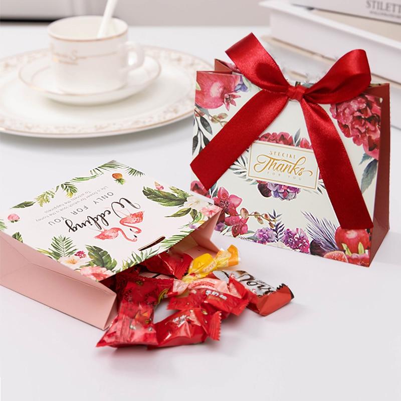 10 stücke Kreative Papier Hochzeit Süßigkeiten Box Geschenk Tasche Hochzeit Geschenk Box Verpackung Partei Bevorzugt Süßigkeit Taschen Party Supplies Goodie taschen