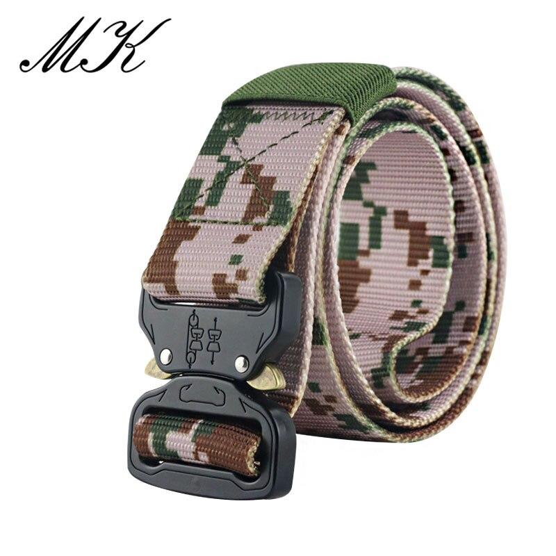 Maikun пояс мужской ремень военное оборудование боевые тактические ремни для мужчин армейский обучений нейлоновый пояс с металлической пряжкой открытый охотничий ремень - Цвет: Camouflage 3