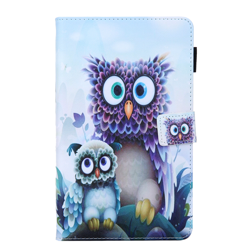 Case Coque For Samsung Tab A8 A 8 2019 SM-T290 Cartoon Owl Leather Cover For Samsung Galaxy Tab A 8.0\