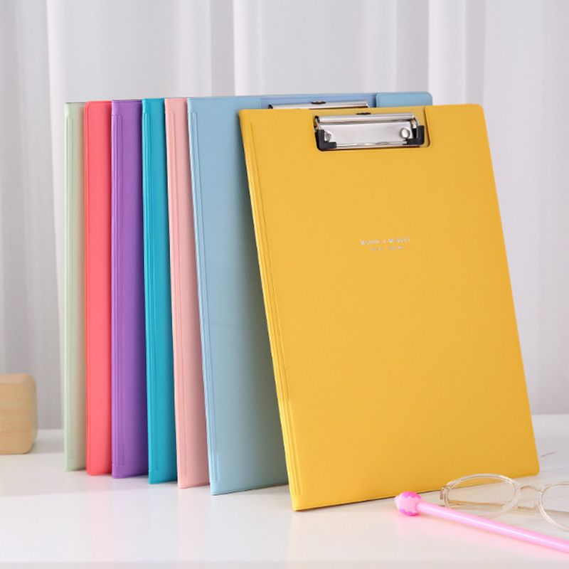 A4 Waterproof Clipboard Writing Pad File Folder Document Holder School Supply