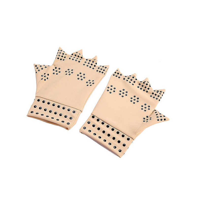 Anti Arthritis Finger Magnetic Therapy Gloves Health Compression Fingerless Gloves Heal Joints Finger Hand Brace Support