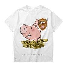 Camiseta con cuello redondo para hombre, camisa masculina de cuello redondo de Seven Deadly Sins Sir Pig Captain Of Scraps