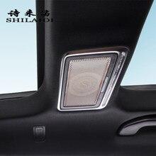 سيارة الخلفية ماكياج مرآة لمستحضرات التجميل مكبر صوت الديكور غطاء ملصقات لمرسيدس بنز S الفئة W222 S320 400 500 اكسسوارات