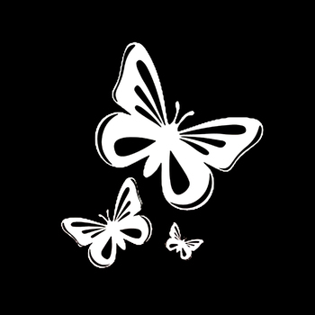 moto Butterfly Car Sticker CAR Window Motorcycle Decal Accessories PVC Skoda Honda Kia Lada Chevrolet Volkswagen image