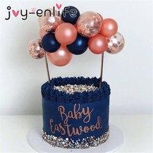 플라밍고 웨딩 케이크 토퍼 풍선 컵케익 토퍼 장식 어린이 생일 파티 베이비 샤워 토퍼 웨딩 케이크 베이킹