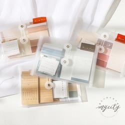 1 torba Kawaii przyklejony Memopad notatki zestaw pakiet pcv DIY dekoracji Planner notatnik taśma wasin kalendarz karty prezent biurowe
